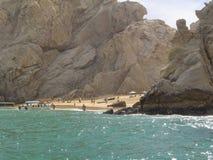 Пляж в Cabo Мексике Стоковая Фотография