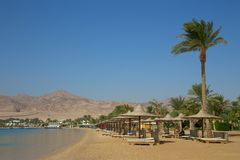 Пляж в Dahab Стоковые Изображения RF