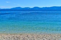 Пляж в Drvenik, Хорватии Стоковая Фотография