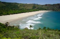 Пляж в Ilhabela, Бразилии Стоковое Изображение