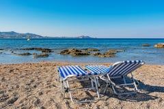 Пляж в Kolymbia Родос, Греция Стоковое Фото