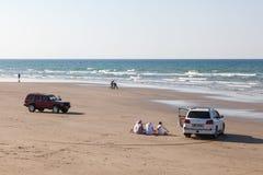 Пляж в Muscat, Омане стоковое изображение