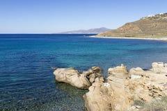 Пляж в Mykonos Стоковое Изображение