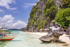 Пляж в Palawan Филиппинах Стоковая Фотография