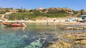 Пляж в Pegeia стоковая фотография
