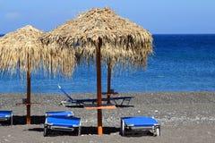 Пляж в Santorini Стоковые Фотографии RF