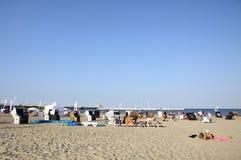 Пляж в Sopot, Балтийском море, Польше стоковая фотография