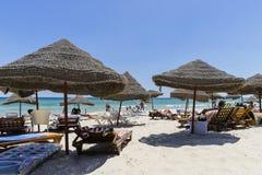 Пляж в Sousse стоковая фотография