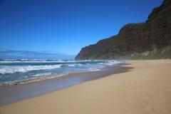 Пляж в SP Polihale Стоковые Изображения