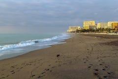 Пляж в Torremolinos, Испании Стоковые Изображения RF