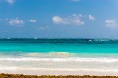 Пляж в Tulum, Мексике Стоковые Изображения RF