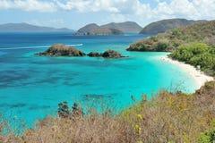 Пляж в u S острова виргинские Стоковое Изображение RF