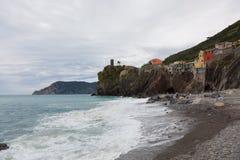 Пляж в Vernazza Стоковое Фото
