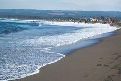 пляж Гавайские островы вулканические Стоковая Фотография