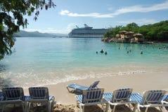 Пляж Гаити Стоковое Изображение RF