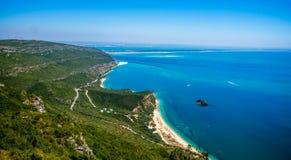 Пляж Галапагос в Arrabida Стоковые Фото