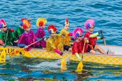 Пляж Гонконг Стэнли гонки фестиваля шлюпок дракона Стоковая Фотография