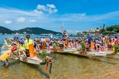 Пляж Гонконг Стэнли гонки фестиваля шлюпок дракона Стоковое Изображение