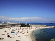 Пляж города Антиба Стоковое фото RF