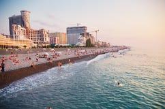 Пляж города Стоковая Фотография