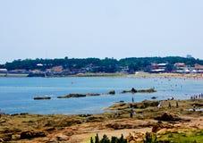 Пляж города Qingdao купая Стоковое Изображение RF