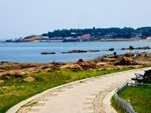 Пляж города Qingdao купая Стоковые Фотографии RF