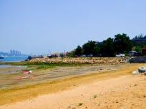 Пляж города Qingdao купая Стоковая Фотография RF