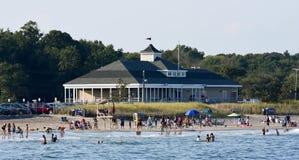 Пляж городка, Narragansett, RI Стоковые Изображения RF