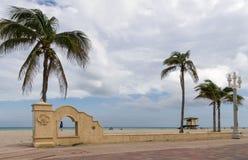 Пляж Голливуда, Florid стоковая фотография rf