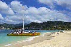 Пляж Гренады, карибский Стоковое Изображение RF