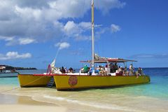 Пляж Гренады, карибский Стоковые Фотографии RF