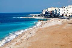 Пляж Греция Родоса Стоковая Фотография