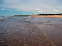 Пляж Гринвича, PEI Стоковые Изображения RF
