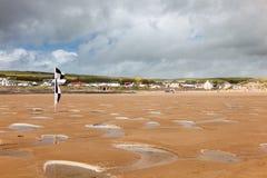 Пляж Девон Англия Великобритания Croyde Стоковая Фотография RF