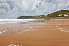 Пляж Девон Англия Великобритания Croyde Стоковое Изображение RF