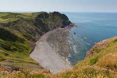 Пляж Девон Англия пункта Hartland Стоковое Изображение