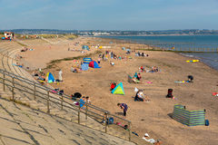 Пляж Девон Англия Dawlish Уоррена на летний день голубого неба стоковое фото