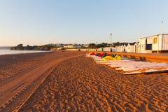 Пляж Девон Англия Goodrington стоковые фотографии rf