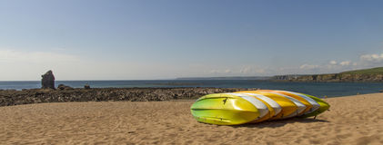 Пляж Девон Thurlestone каня стоковая фотография rf