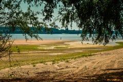 Пляж Дуная, Румыния Стоковые Фотографии RF