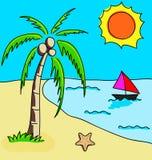 Пляж лета Стоковая Фотография