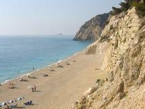 Пляж лефкас Греция Egremni Стоковая Фотография RF