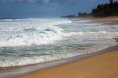 Пляж захода солнца - северный берег стоковое фото rf