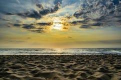 Пляж захода солнца, Таиланд Стоковая Фотография