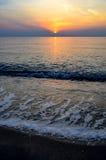 Пляж захода солнца, Таиланд Стоковые Фотографии RF