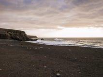 Пляж - заход солнца Стоковые Изображения RF