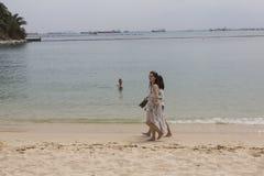 Пляж залива Марины в Сингапуре Стоковые Фотографии RF