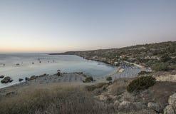 Пляж залива Konnos Стоковые Изображения RF