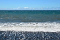 Пляж залива Pestana в Мадейре Стоковое Фото