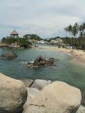 Пляж залива Tayrona Стоковые Изображения RF